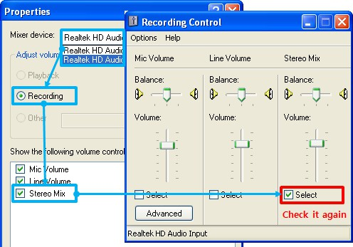 skype recording volume problem in Windows XP