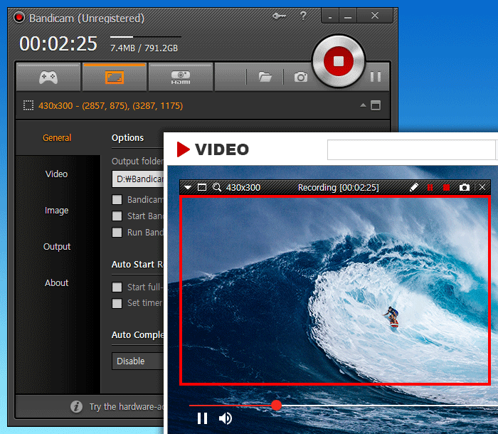 Free Screen Recorder - Bandicam