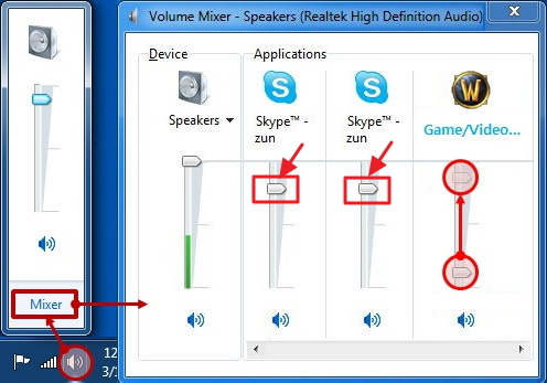 skype recording volume problem in Windows Vista/7/8/10