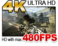 4K ULTRA HD recording and HD with max. 120fps